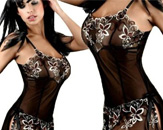 Illusion Lace Babydoll Dress Nightie