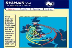 Ryanair's website to close for 10 hours this weekend