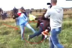 Refugee tripped by Hungarian camerawoman offered job in Spain
