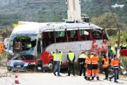 Spain bus driver may have fallen asleep at wheel before crash