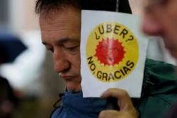 Taxi drivers' strike in Malaga over ride sharing apps descends into violence