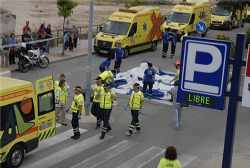 Earthquake and Flood Simulation underway in Lorca