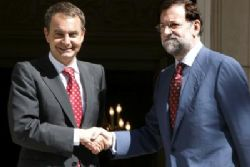 Rajoy and Zapatero meet