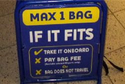 EU to challenge airlines 'one peice of hand luggage' rule