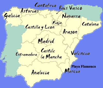 Regional Map Of Spain.Spain Says Regional Deficit On Track Tumbit News Story