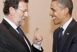 Obama discusses economy of Spain with Rajoy