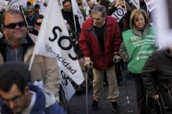 Disabled protest in Spain over austerity measures