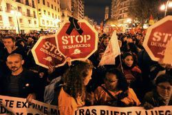 Spain politicians to be fenced off from evictions protesters