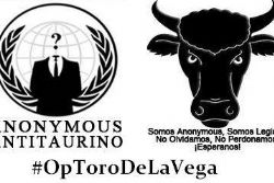 Hacking Group Anonymous Targets Brutal Bull Slaying Fiesta