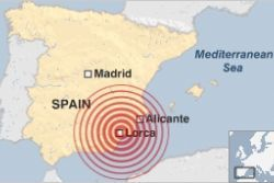 3 Earthquakes in Lorca, Murcia