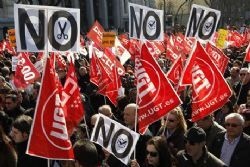 Spain: where trade union leaders are criminalised for striking